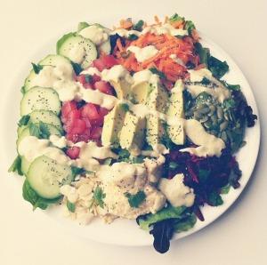 Big Vegan Salad Plate Photo