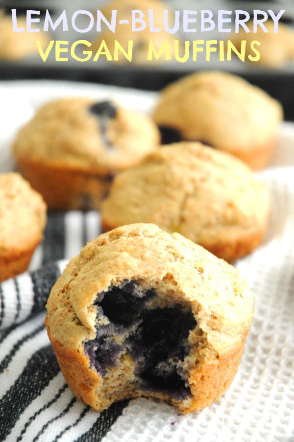 Lemon Blueberry Bran Muffins
