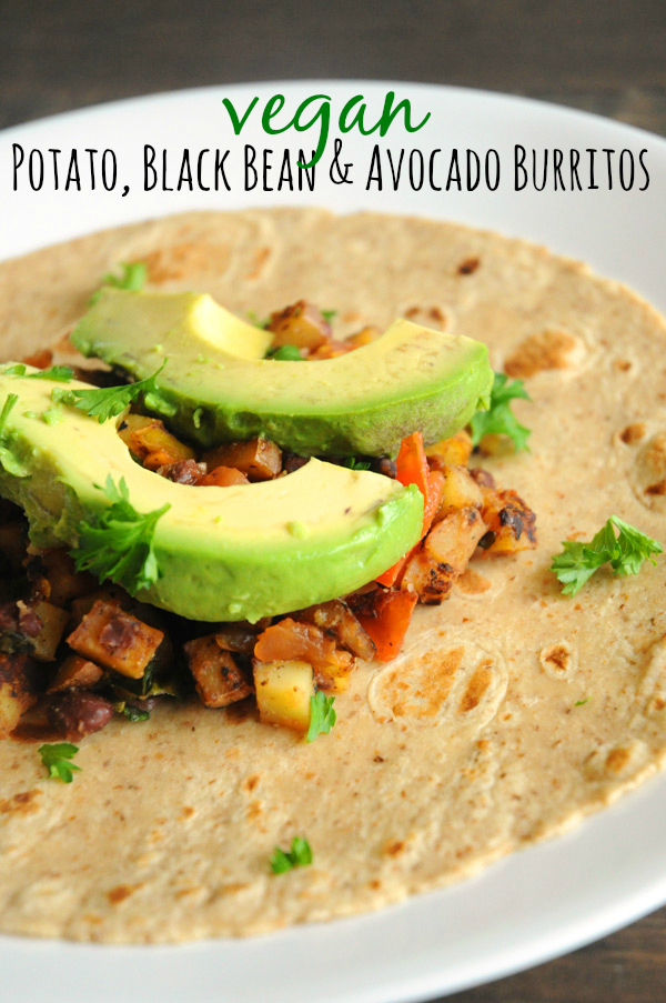 Spicy Potato 'n Black Bean Burritos Recipe — Dishmaps