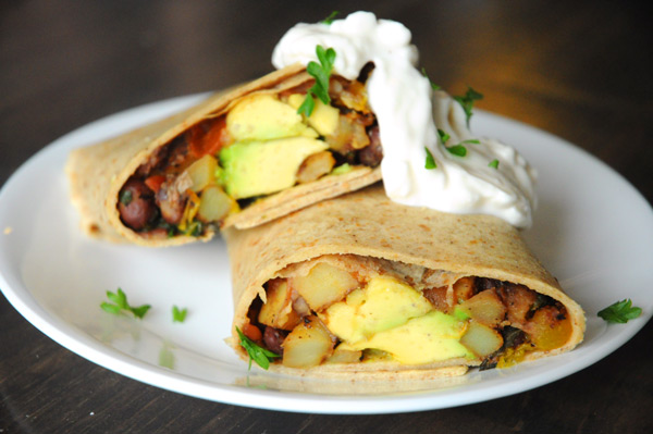 sweet potato and black bean burritos with lime black bean breakfast ...