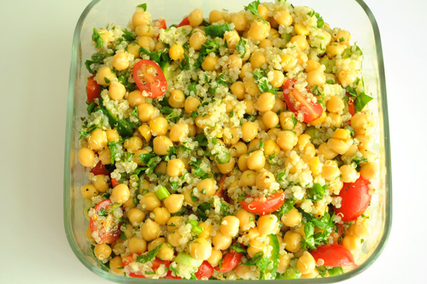 Oh  how I love simple meals  Quinoa Chickpea Salad Recipes