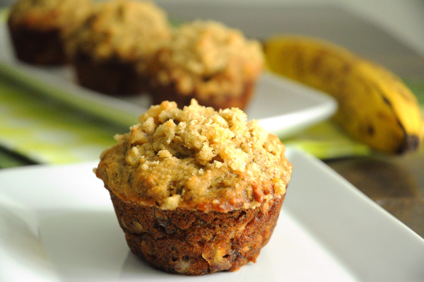 Vegan Banana Crumb Muffins | Vegan Recipes from Cassie Howard