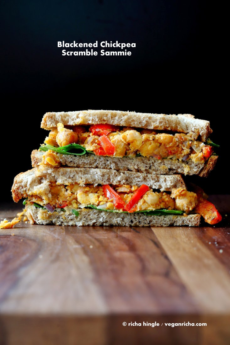 Blacked Chickpea Salad Sandwich