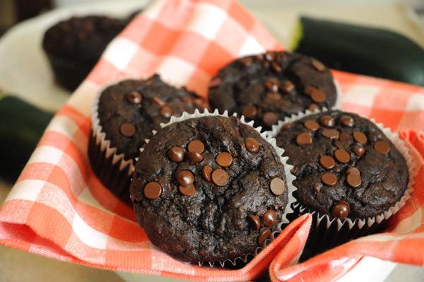 Chocolate-Zucchini-Muffins-Vegan