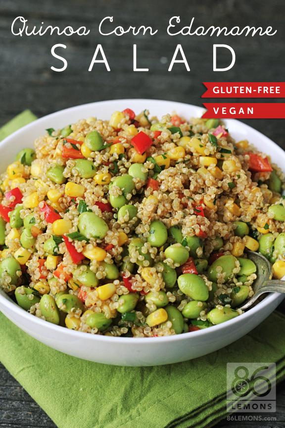 Quinoa Corn Edemame Salad Pic