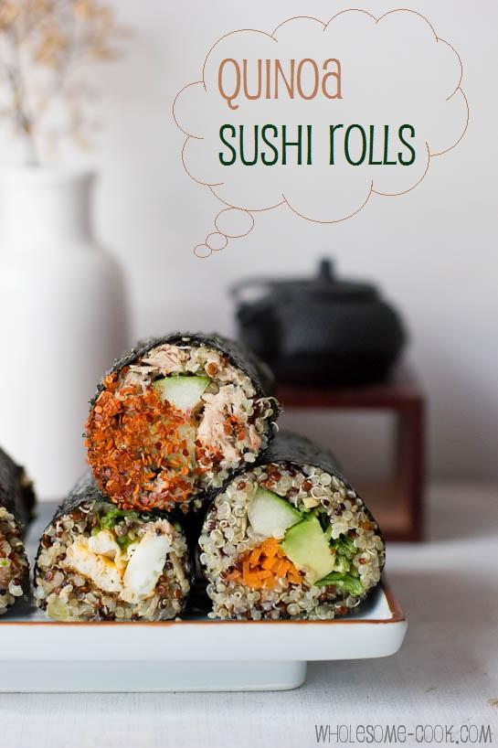 Quinoa Sushi Rolls Pic