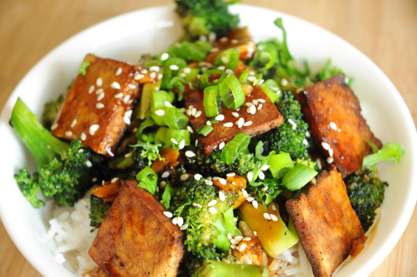 Broccoli-Rice-Tofu