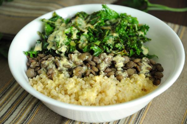 Lentils-Quinoa-Greens