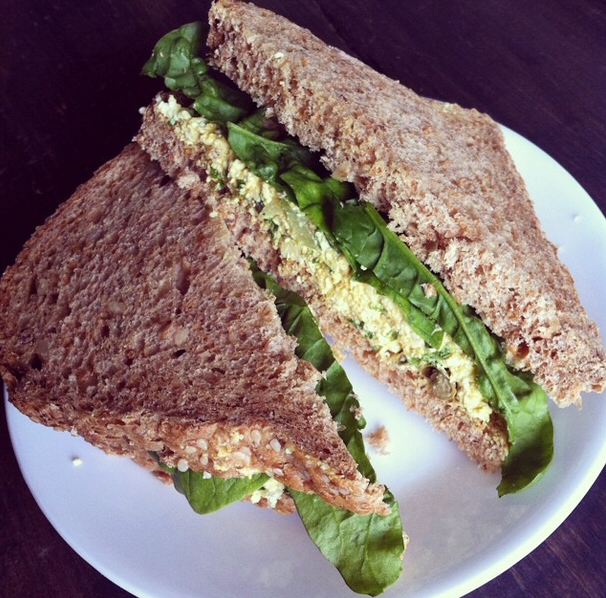 Vegan Egg Sandwich Pic