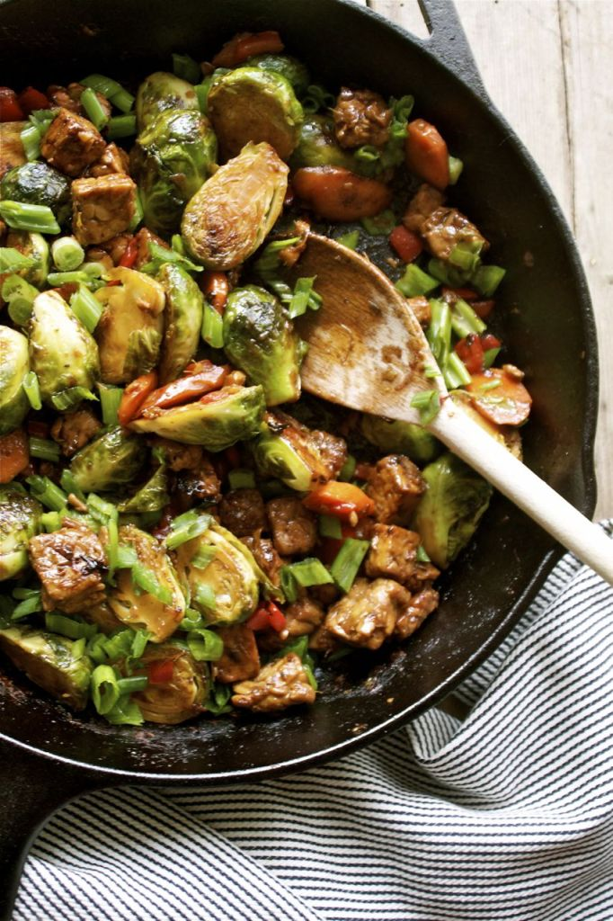 Brussels Sprout and Tempeh Pic