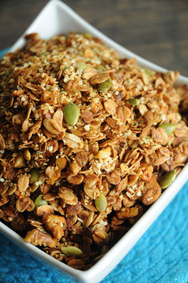 Coconut Hemp Granola | Vegan Recipes from Cassie Howard