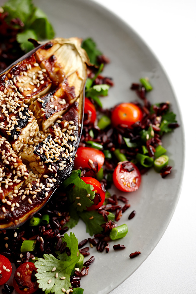Eggplant with Black Rice Pic