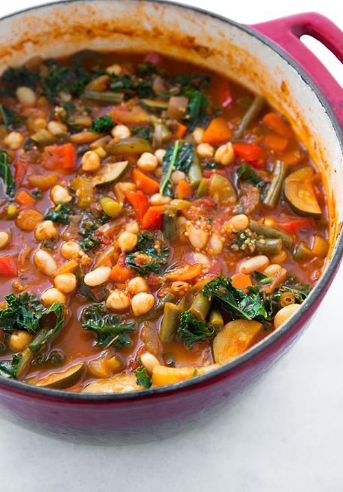 Kale Quinoa Minestrone Soup Pic