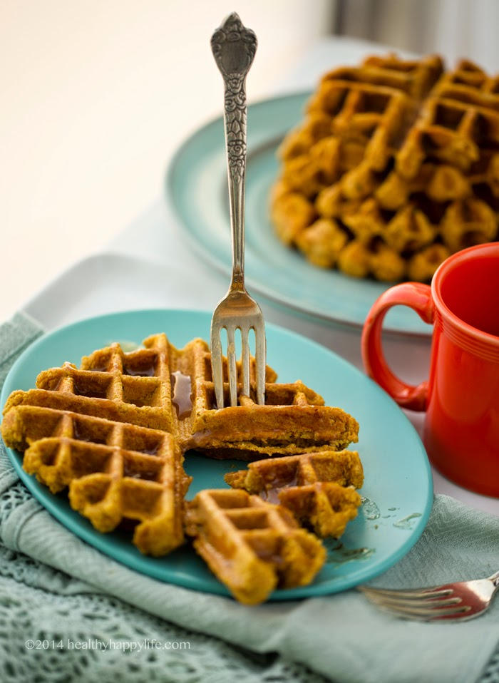 Orange Spice Vegan Waffles Pic