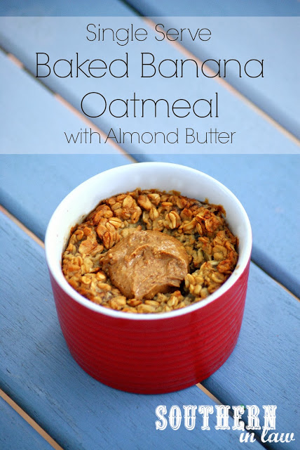 Single Serve Baked Banana Oatmeal