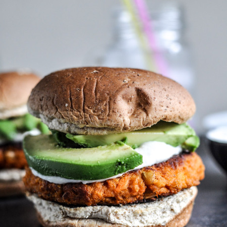 Sweet Potato Burger Pic